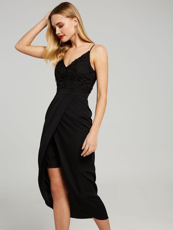 All The Love Lace Drape Dress, Portmans $129.95