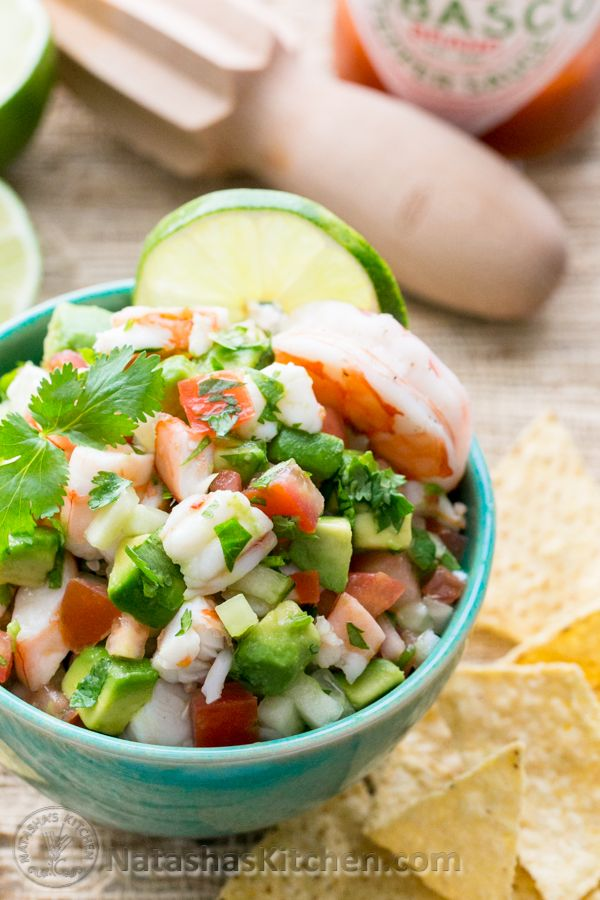 Skinny Shrimp & Avocado Salsa. This stuff is so addictive. Our ...