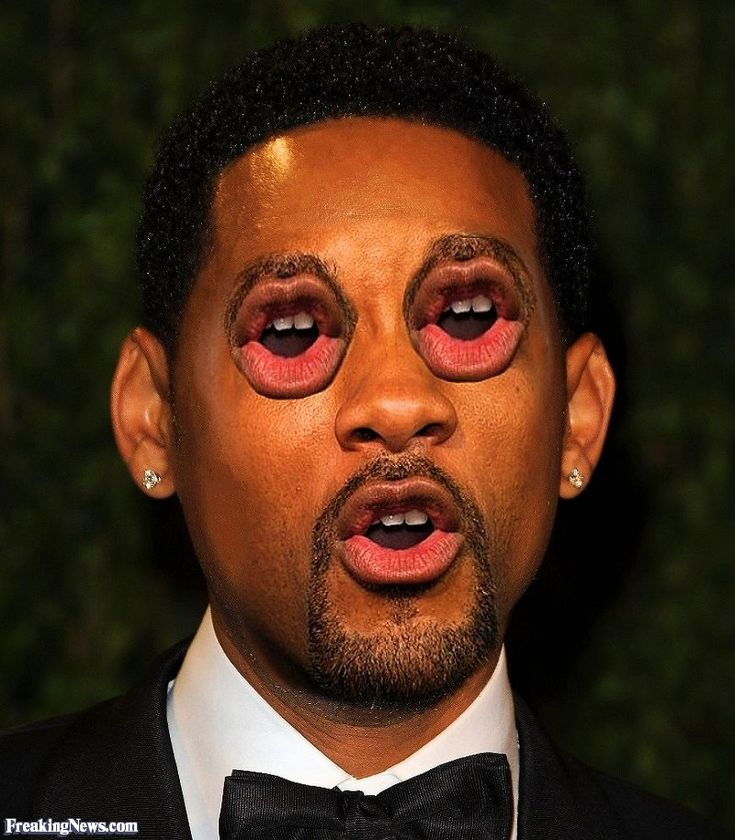 Will Smith with Mouth Eyes