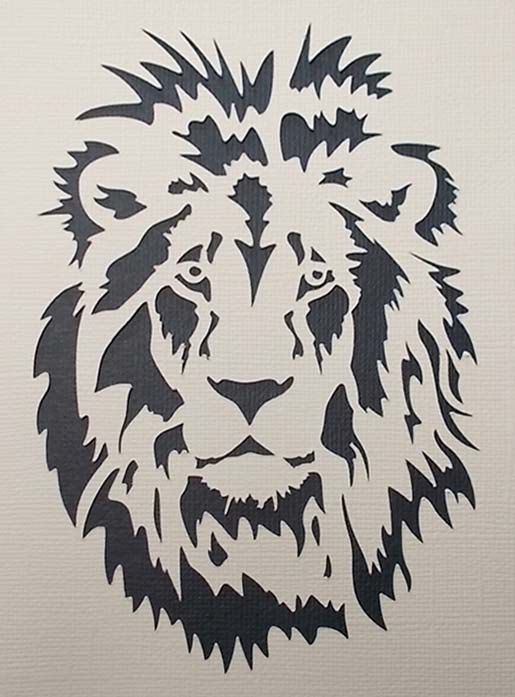 lion stencil. Black Bedroom Furniture Sets. Home Design Ideas
