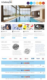 Air Conditioning Work    Web Design for AC Business  A custom website for Air Conditioning Business based in the UK detailing the services.