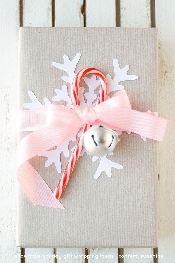188 best christmas gifts party favors images on pinterest snowflake gift wrapping ideas for christmas negle Choice Image