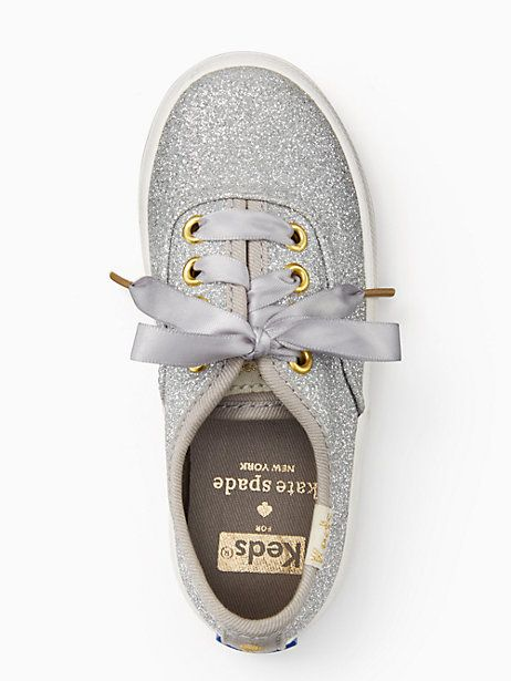 Keds Kids X Kate Spade New York Champion Glitter Toddler Sneakers, Silver - Size 8.5