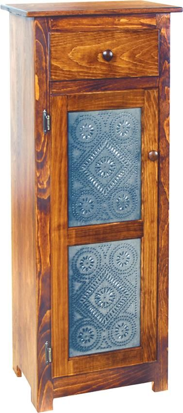 Amish Deluxe Jelly Cabinet with Tin Doors