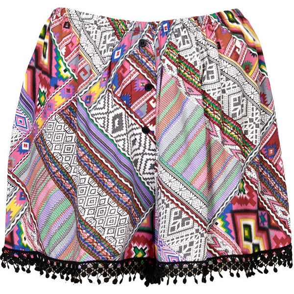 TOPSHOP Aztec Print Shorts by Band of Gypsies found on Polyvore