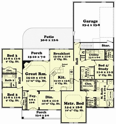 1069 best floor plans images on pinterest home plans dream house house plan 041 00050 european plan 2400 square feet 4 bedrooms 3 bathrooms malvernweather Gallery
