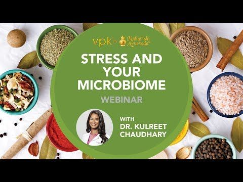Stress and Your Microbiome Webinar featuring Dr. Kulreet Chaudhary -- vpk by Maharishi Ayurveda - YouTube