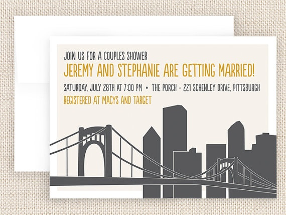 10 Best Wedding Invites Images On Pinterest Bridges Pittsburgh