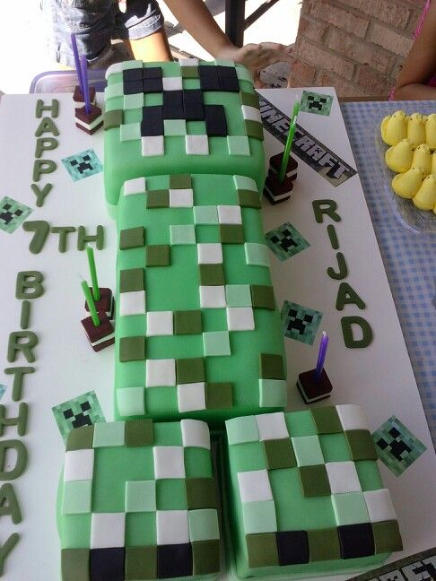 My son loves Minecraft, so I surprised him for his 7th b-day