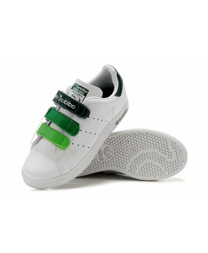 best service d237f 4b6f1 cheapest adidas stan smith velcro white green 817c5 66f72