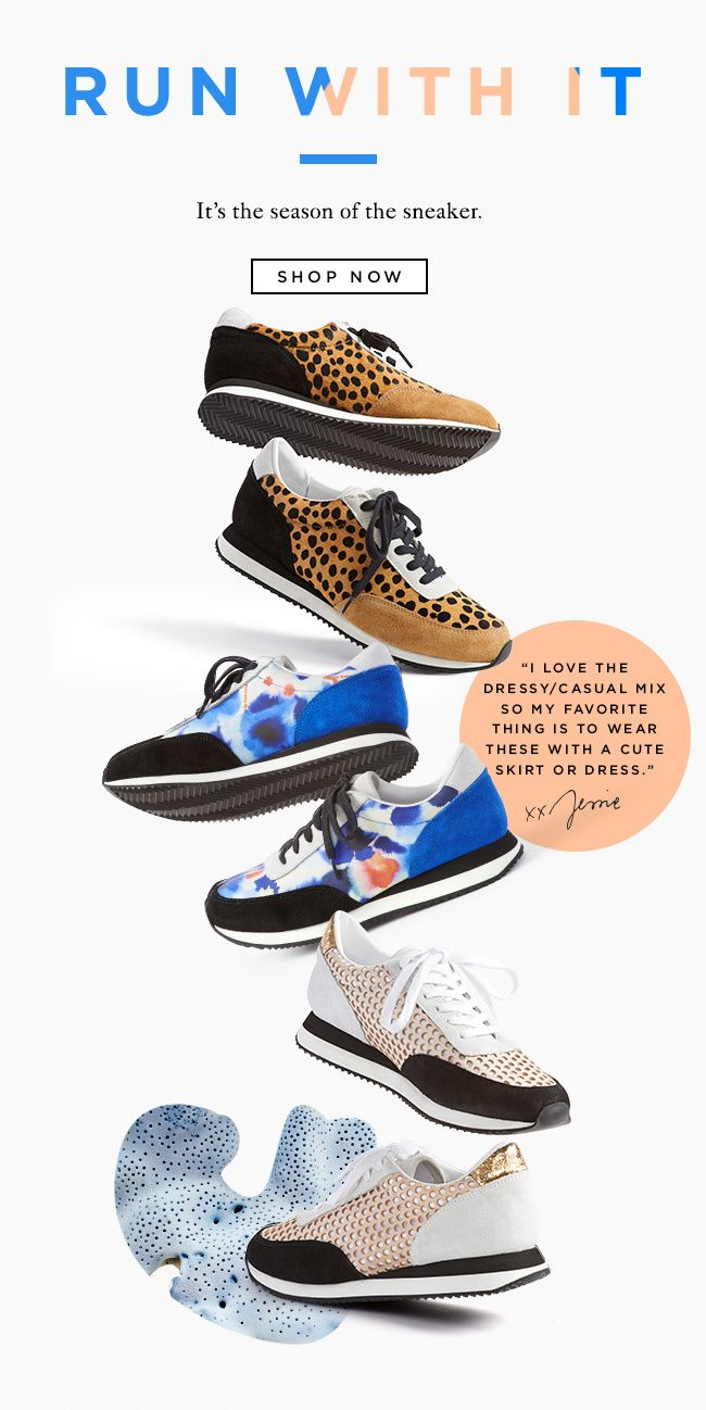 Shop The Rio Runner Sneaker At The Official Loeffler Randall Online Store LoefflerRandall.com in Email design