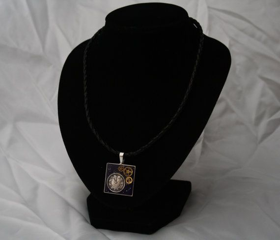 Steampunk Inspired Silver Square Pendant by AnomalieAccessories, $22.00