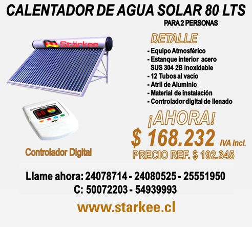 STARKEE - Paneles solares, Productos de Energía solar, Placas fotovoltaicas, Calentadores de agua solares  NUEVO LOCAL:  Ñuble 620 Stgo, Chile ventas@starkee.cl