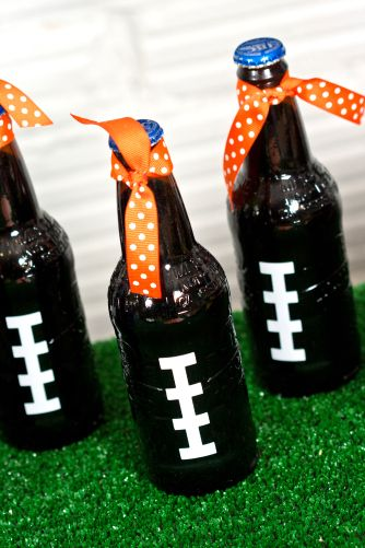 Fun football decorations-- it's the little things that make your party special. - @heidi aiken