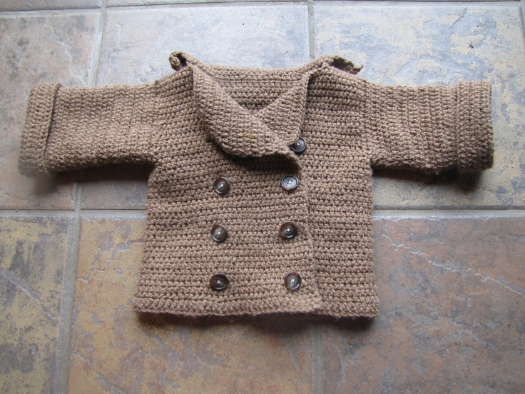 Double breasted infant sweater. $45.00, via Etsy.