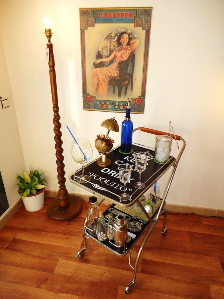 Www tabanovintage com carro camarera bar vintage a os 70 - Carrito camarera ...