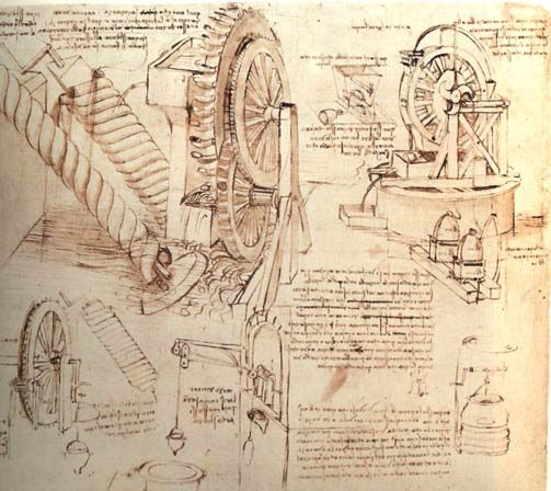 Drawings By Da Vinci | Drawings of Water Lifting Devices - Leonardo da Vinci - WikiPaintings ...