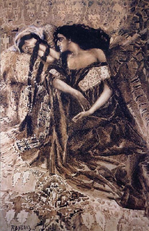 Devil 1890-91 Mikhail Vrubel