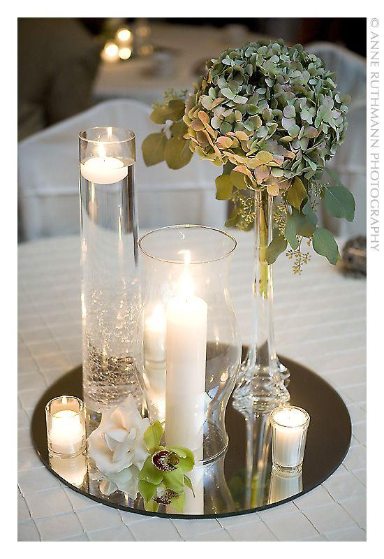 Tutte le dimensioni |Simple White Candle & Green Floral Centerpiece by http://www.ourbackyardflowershop.com/ | Flickr – Condivisione di foto!