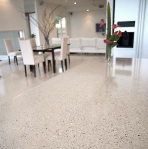 Boral Polished Concrete Decorative Concrete - Boralstone™ Gallery - RiverQuartz Matching polished concrete floor and benchtop