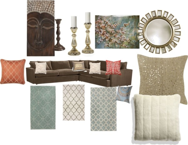 Living Room By Mmiely On Polyvore For The Home Pinterest Room