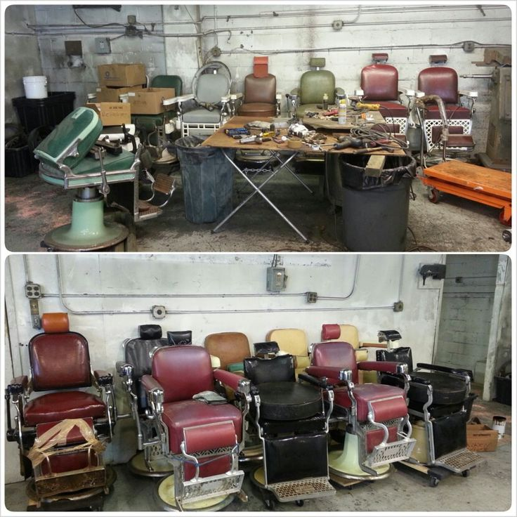 Interior Color Restoration Repair: AVAIL CHAIRS$$$$$ :-) Antique Barber Chair Restoration
