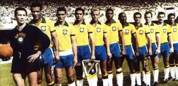 07.09.1965 - Jogadores do Palmeiras representam a seleção brasileira em amistoso contra o Uruguai no Mineirão