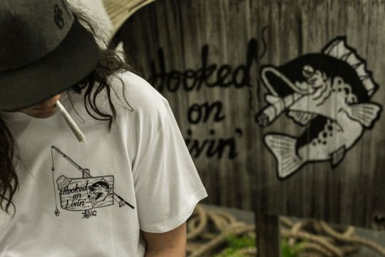 Hooked On Livin' -Hooked T-Shirt.  #thirdchapter #3rdchapter #3C #Streetwear #clothing #Melbourne