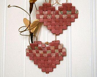 Das Papier Herz Ornament Papier recycelt und von BlueTangDesigns