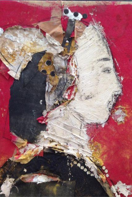 Manolo Valdés, 'Perfil Sobre Fondo Rojo (Profile on Red Background),' 2013, Rosenbaum Contemporary