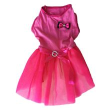 New Summer Pet Clothes Mini Pink Purple Lace Dress Skirt Dogs Princess Dresses Wedding Dress For Dog Clothing(China)