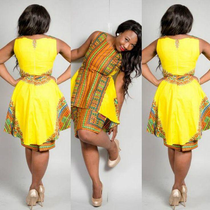 vestido africano de un solo color - Buscar con Google