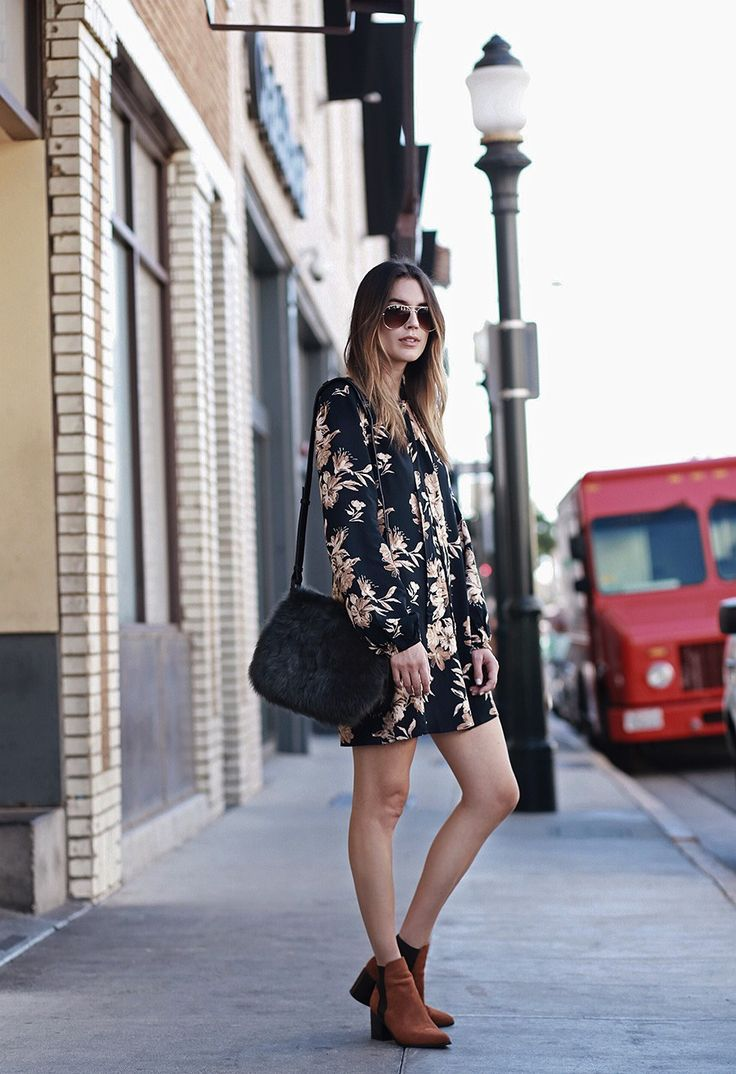 Floral Dress Aldo Booties | Thrifts and Threads