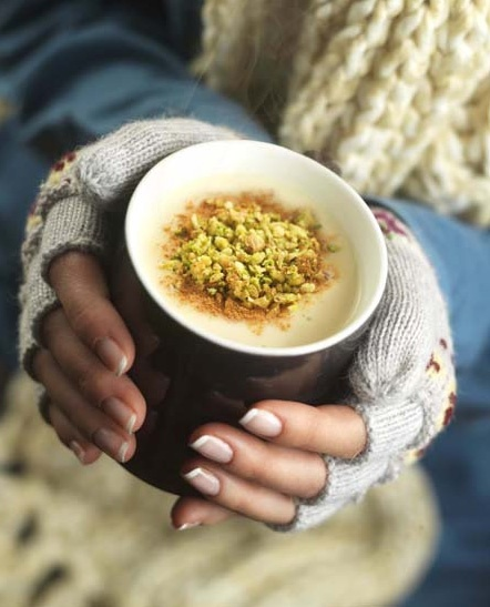 Salep (Sahlep, Sahlab)-- sweet wild orchid drink usually served with cinnamon