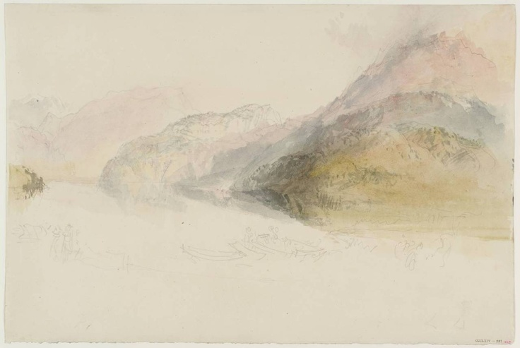 Pilatus, from the Bay of Stanz, 1830. Watercolour and pencil on paper J. M. W Turner