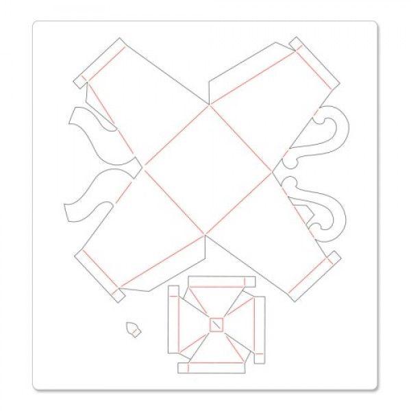 Paper teapot template. Tea party centerpiece, or tea party favor. Box for cookies?