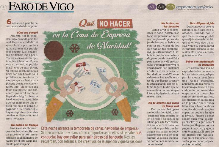 Artículo de FASIDEAS publicado por Faro de Vigo