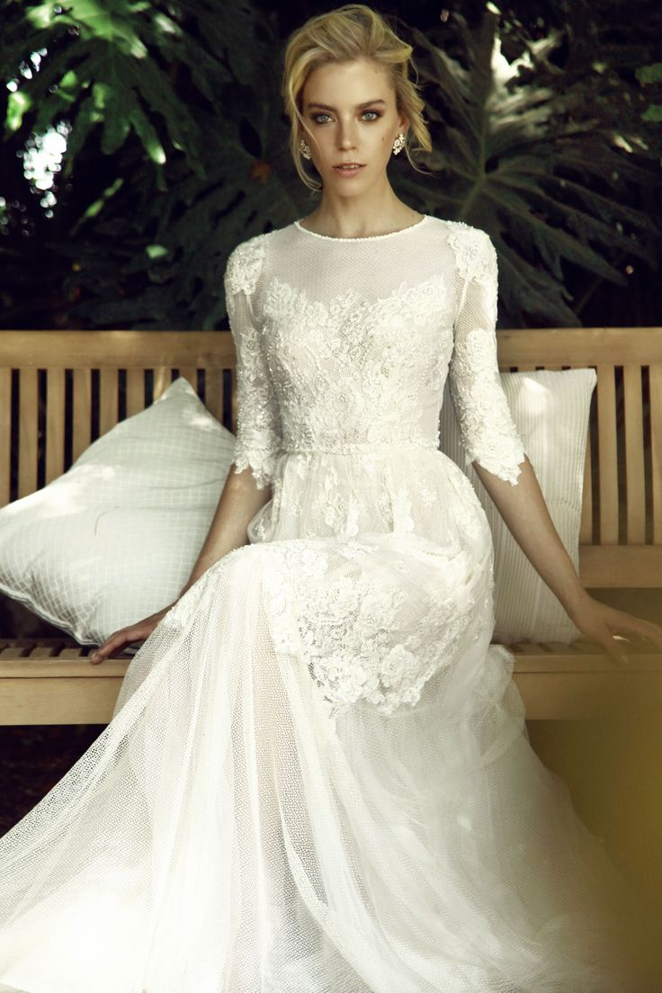 141 best Modest Gowns for the Conservative Bride images on