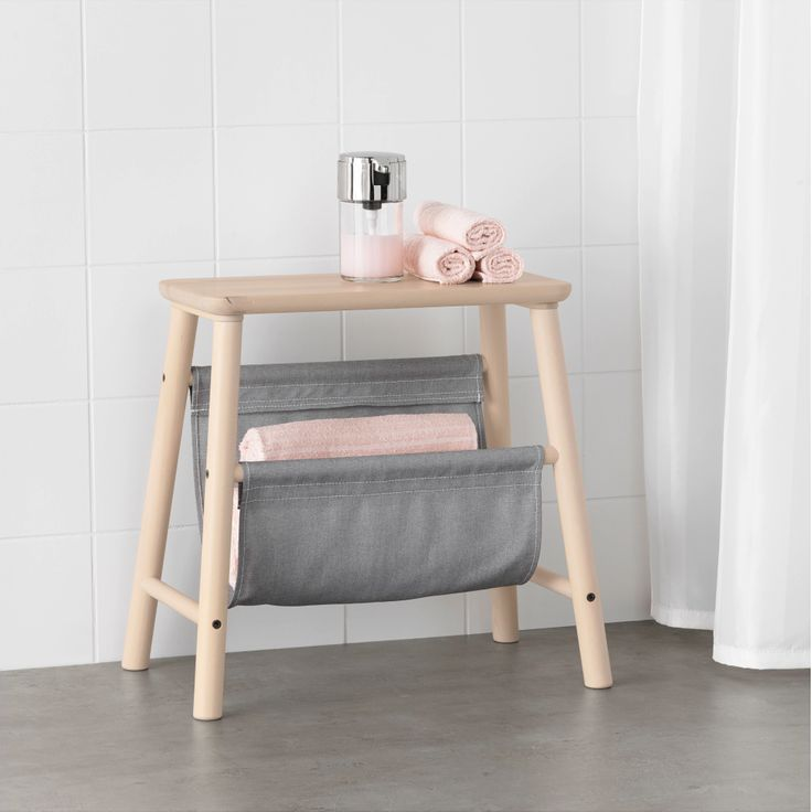 The VILTO line is a basic, solid line of storage for small spaces, and includes this cute little double-duty stool.