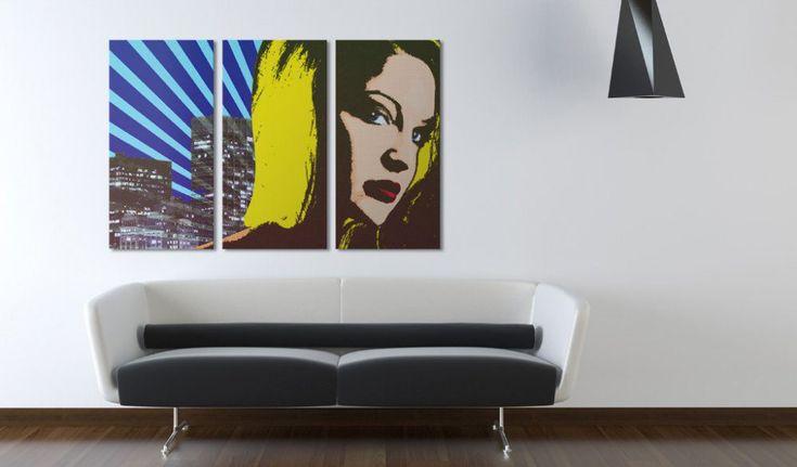 Obraz na plátně - pohled - triptych #canvas #prints #obraz #decor #inspirace #home #barvy #pictureframes #blondie #look