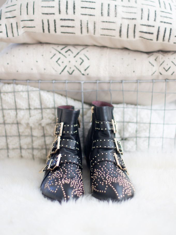 Chloé Susanna Studded Ankle Boots Look-a-Likes by Choies | winter fashion tips | winter style ideas | bootie style ideas | cold weather fashion || Glitter, Inc.