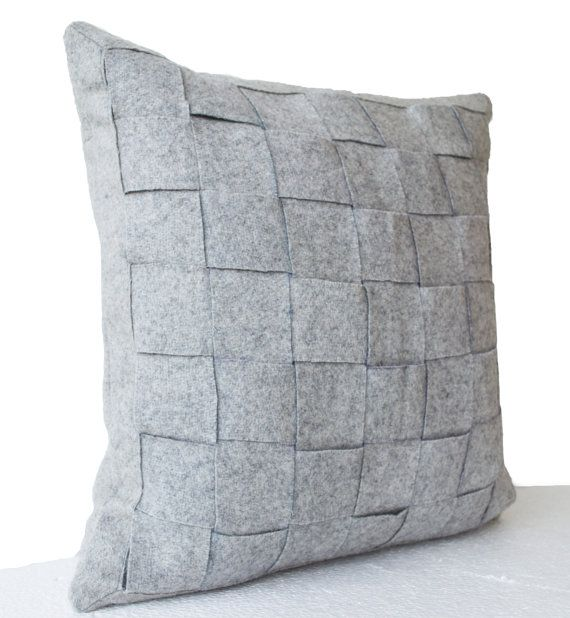 Felt pillow in mat weave. This felt throw pillow is another great way to make a statement through textures. Please pick your favorite colors from the