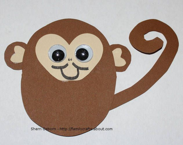 17 best images about animal fair crafts for kids on for Monkey crafts for preschool