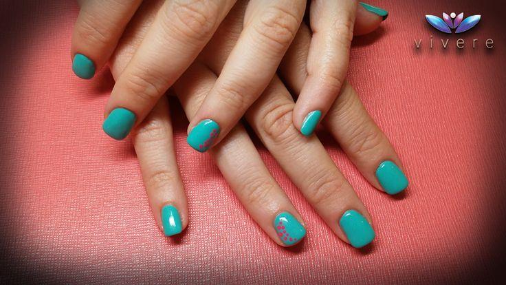 Dark turquoise! Ενίσχυση φυσικού νυχιού με easy off gel. #dark_turquoise #easyoffgel #vivere #nailart