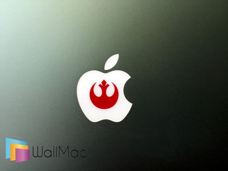 Star Wars Rebel Symbol Glowing Backlit Apple Logo for MacBooks 2 Decals Stickers per Order by WallMac on Etsy