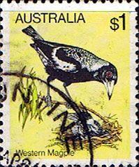 Australia 1980 Black Backed Magpie Fine Used SG 740 Scott 739    Other Australian Stamps HERE