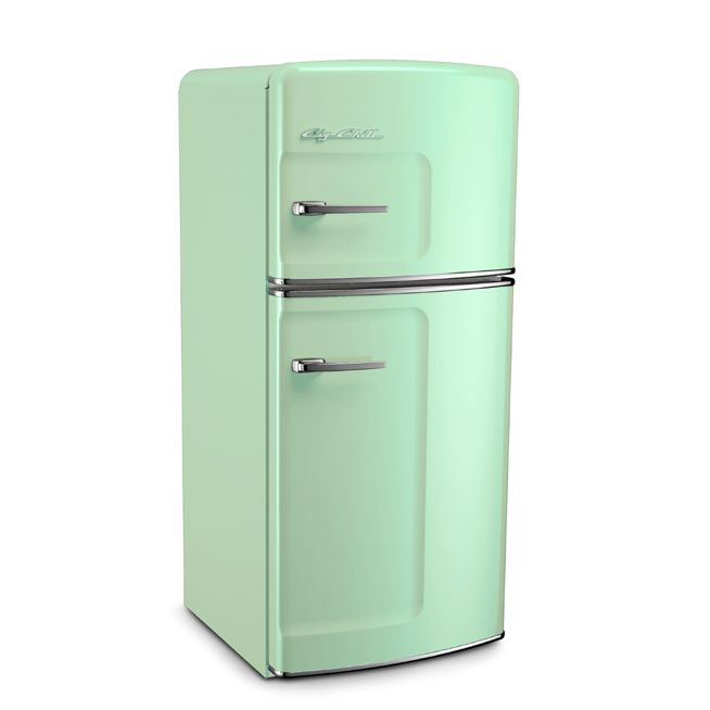Jadite Green Retro Refrigerator by Big Chill