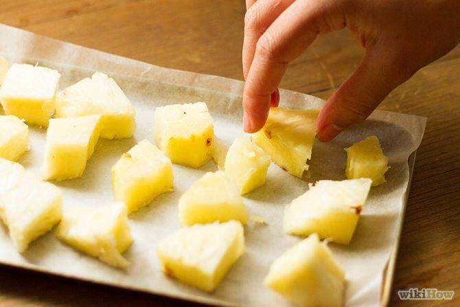 Como congelar abacaxi