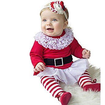 Christmas Dress Top with Striped Leggings Outfit