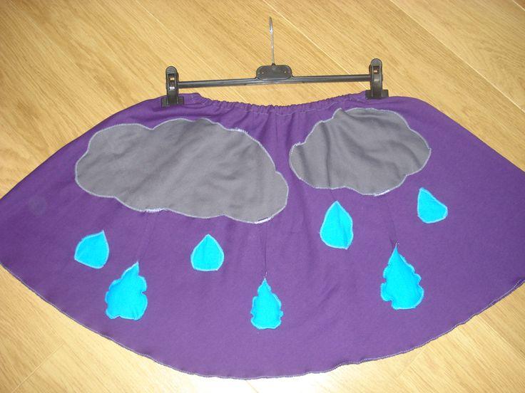 χειροποίητη φούστα σύννεφα-βροχή